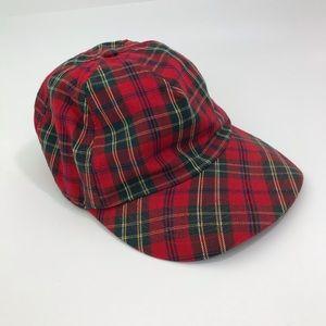 GAP Plaid TARTAN CHRISTMAS Cotton Baseball Cap Hat